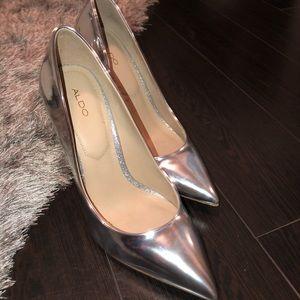 ALDO Silver High Heels 👠👠 Size 8.5